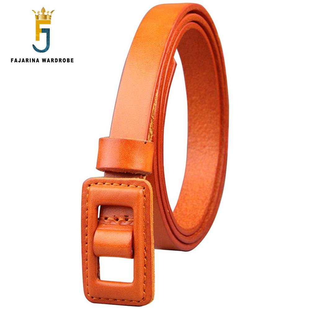 FAJARINA Quality Cowhide Ladies Cow Skin Leather Female All-match Cowskin Cover Clasp Style Belts For Women Blue Styles N17FJ475