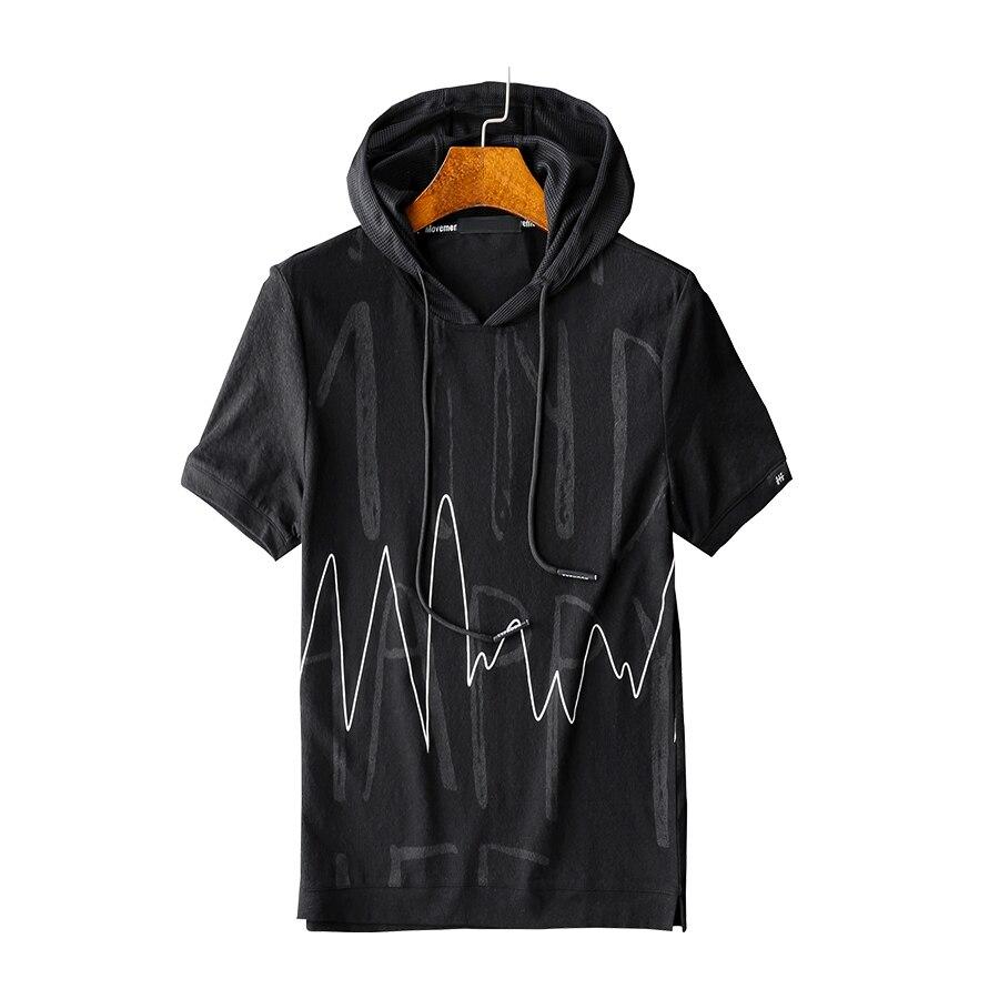 Décontracté Jeunes pulls à capuche pour hommes Coréenne À Manches Courtes Sweatshirt à capuche Hommes Slim Fit Sudadera Hombre Harajuku Sweat Homme Vintage 5H03