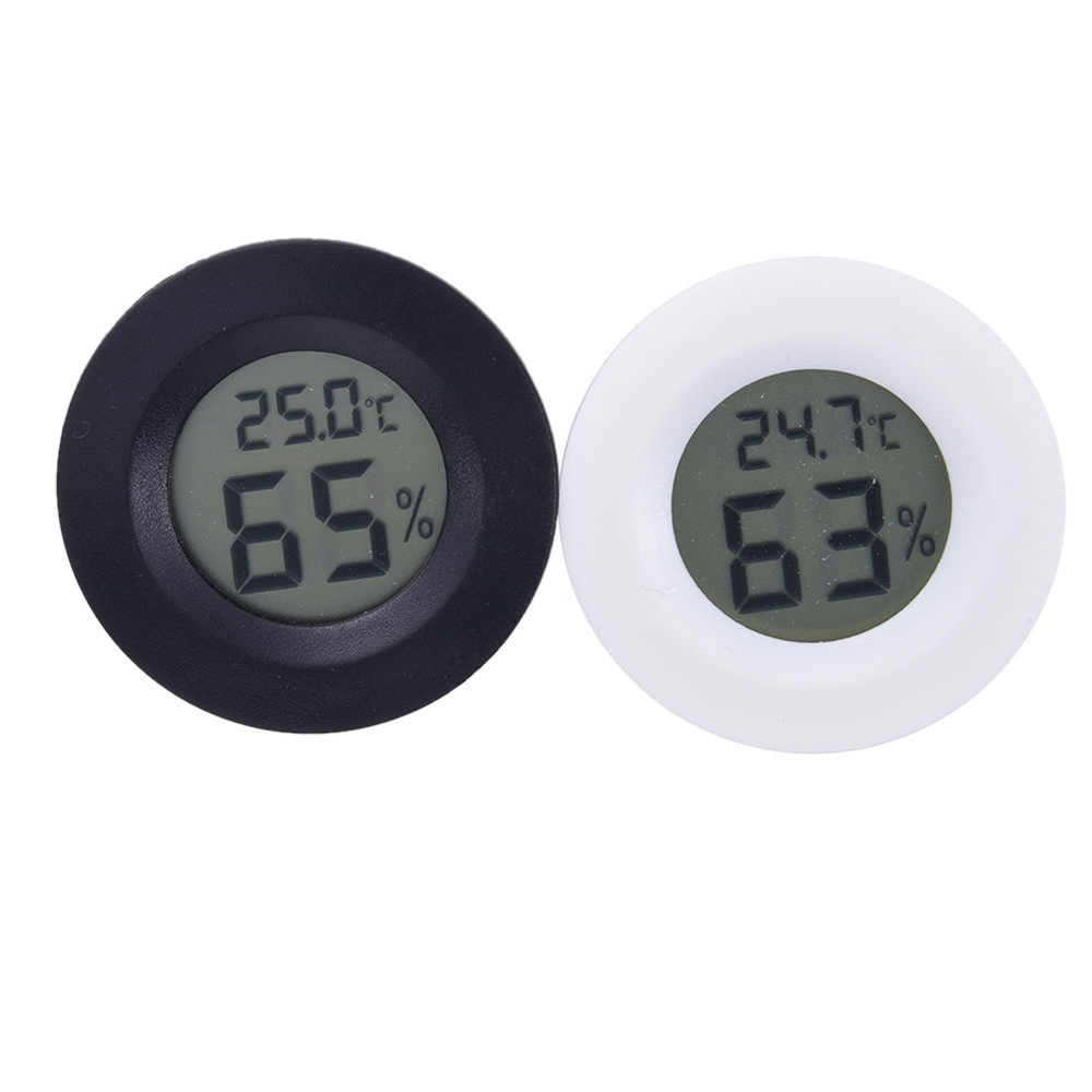 Portable 2 in 1 Car Digital LCD Humidity Meter Sensor & Temperature Display Electronic Clock Thermometer Car Automotive