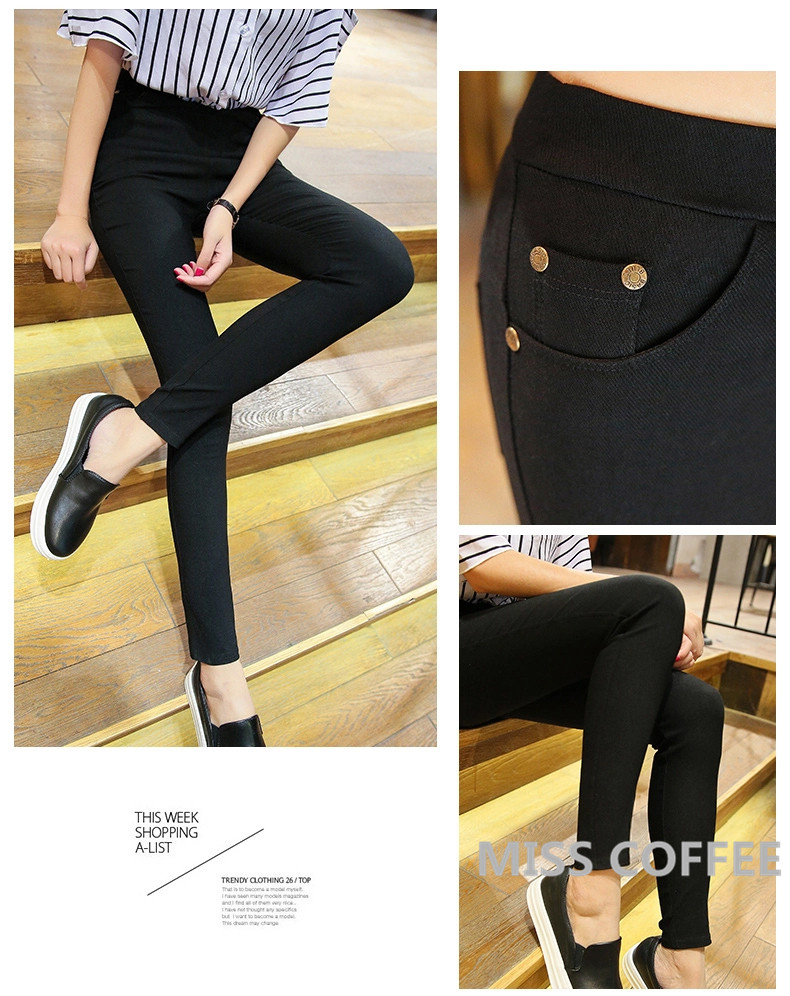 Free Shipping 17 New Autumn Fashion Pencil Jeans Woman Candy Colored Mid Waist Full Length Zipper Slim Fit Skinny Women Pants 6