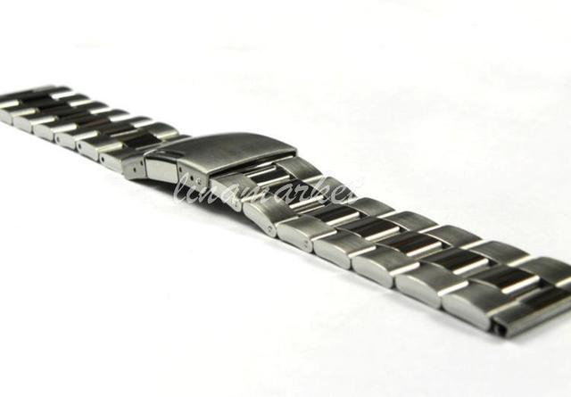 ZLIMSN 26mm (Hebilla 22mm) Correa Sólido Puro Reloj de Acero Inoxidable Bandas Correa Pulseras S3
