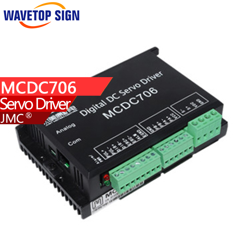 JMC Full digital dc servo drive MCDC706 all-digital DC servo drive system adopts high-performance digital signal processor dcs810 leadshine digital dc brush servo drive servo amplifier servo motor controller up to 80vdc 20a new original