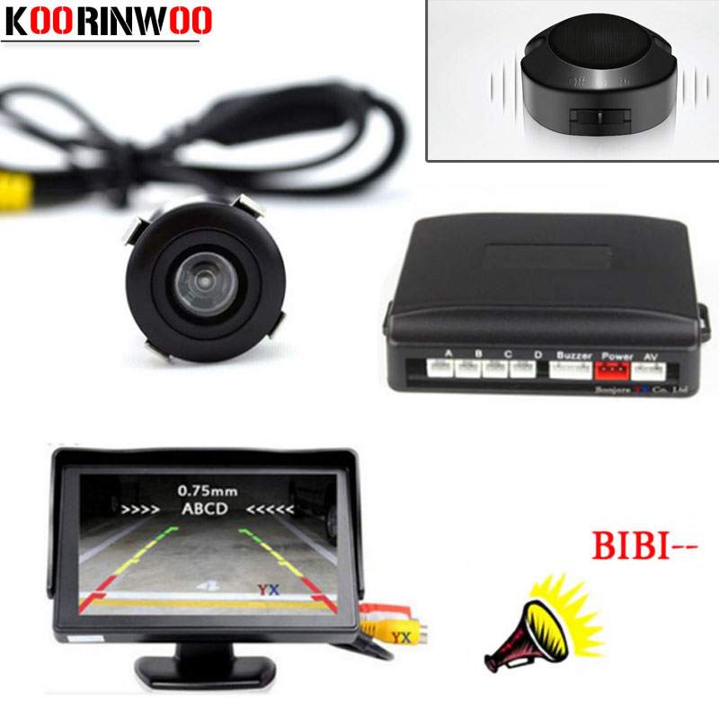 Koorinwoo 4 3 Digital Screen LED Parking Sensor Car Auto Parktronic Detector System 18 5mm Car