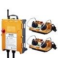 F24-60 industrial inalámbrico universal de radio control remoto de la grúa para AC/DC 2 transmisor y 1 receptor