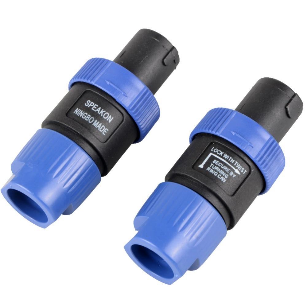 2Pcs/lot  Speakon NL4FC Blue 4 Pin Male Plug Compatible Audio Cable Connector OT8G  VE028 freeshipping 2 pcs lot 4 pin male