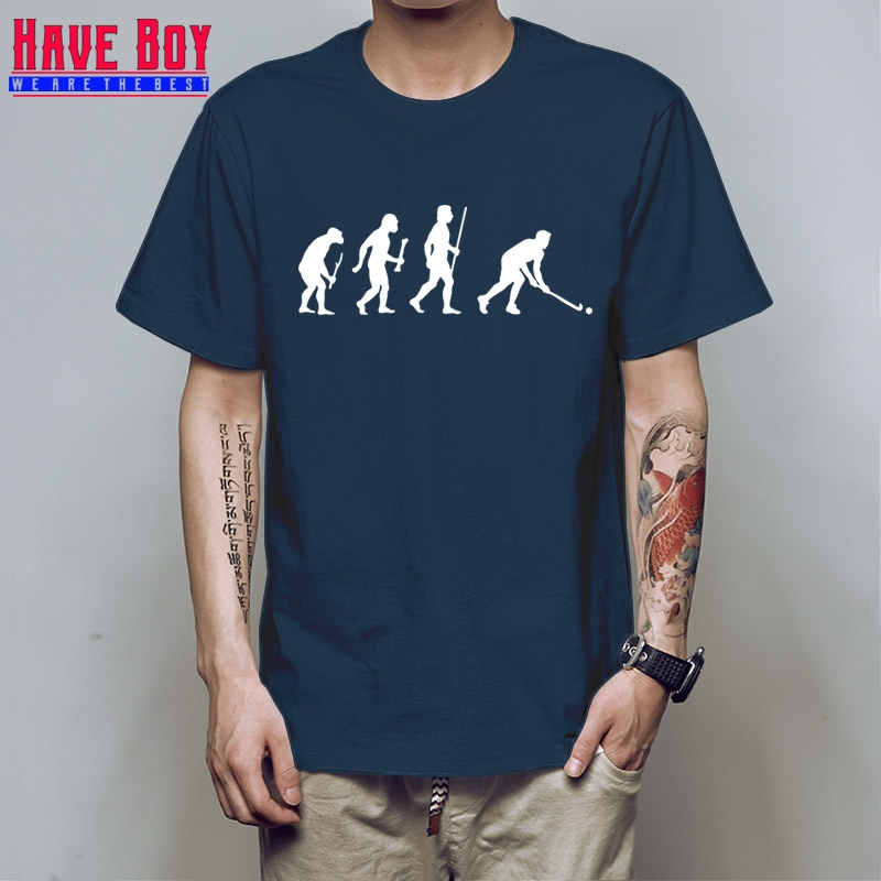 Brand Style Short Sleeve Evolution Field Hockeyer camisa Homme High Quality Cheap T Shirt Maker HB33