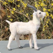 mini lovely goat model , goat toy , ideal for home decoration or gift for children 20*4*18 cm