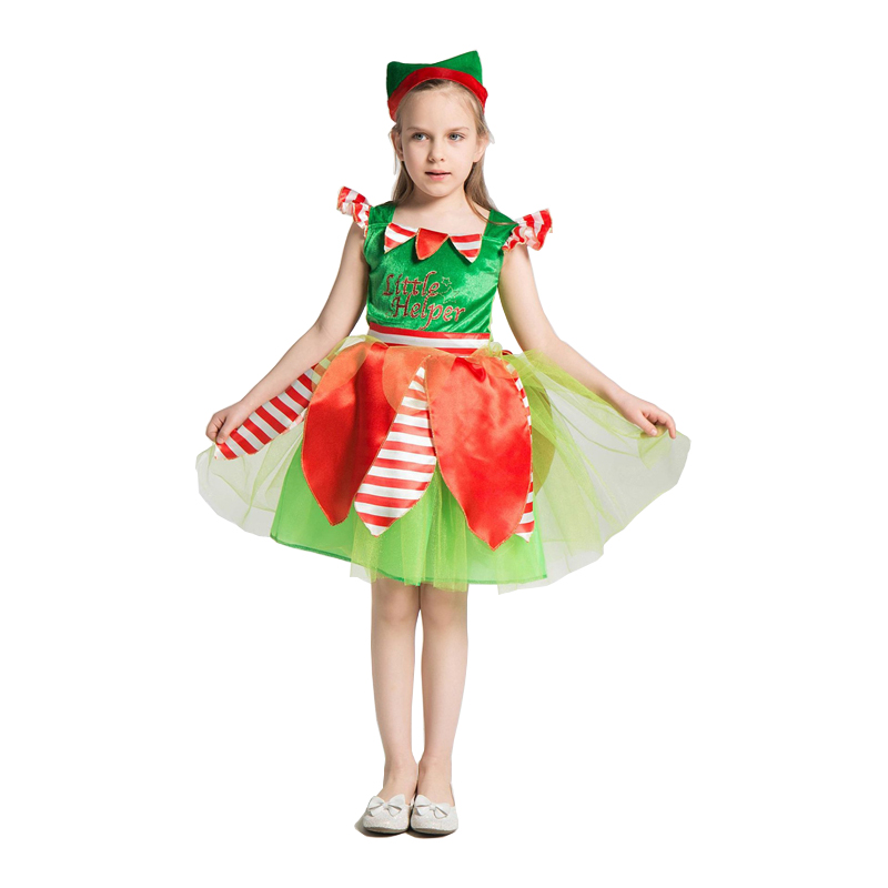 New Elf Costume Kids Cosplay Girls Forest Costumes Child Halloween For Christmas Fancy Dress
