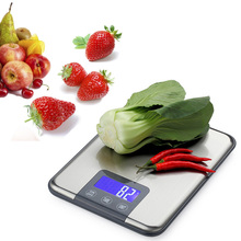 15Kg*1g Silver Black Kitchen Food Weight Household Instruments Mini Useful Portable Pocket Precision Electronic Scale miran kpm 100 miran kpm 100mm miniature linear displacement instruments hinged hinged circular instruments electronic scale