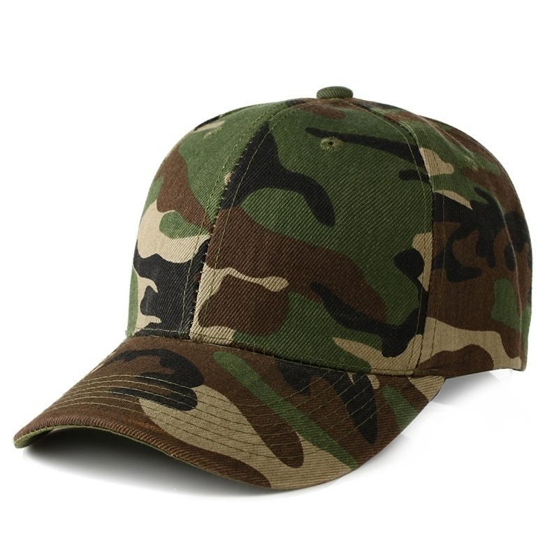 Mens Camouflage Military Adjustable Hat Camo Hunting Fishing  Baseball Cap