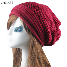 Hot Sale Echo657 New Fashion Knit Winter Warm Women Men Hip-Hop Beanie Hat Baggy Unisex Cap Skull Nov 18