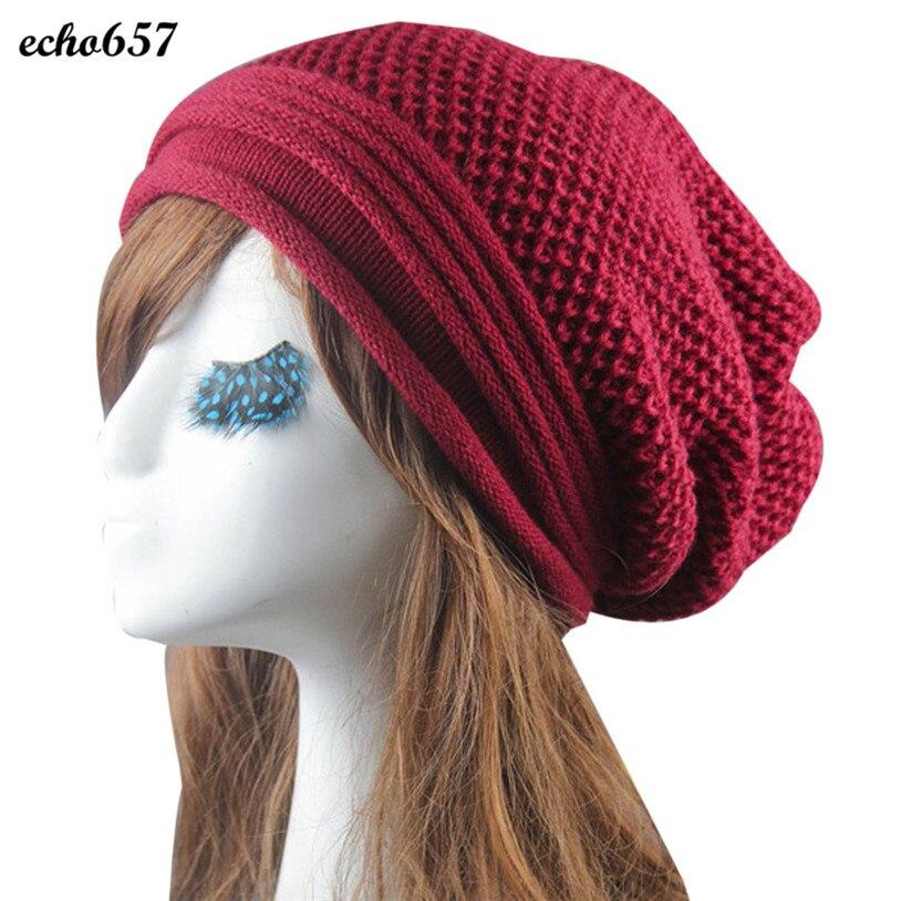 d911fbfd34df8 tricot D'hiver Chaud Femmes Hommes Hip-Hop Beanie Chapeau Baggy Unisexe Ski  Cap Crâne