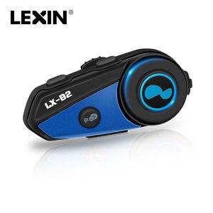 Image 1 - 最新 Lexin B2 オートバイの Bluetooth ヘルメットヘッドセットインターホン BT ワイヤレスインターホン intercomunicador bluetooth パラ motocicleta