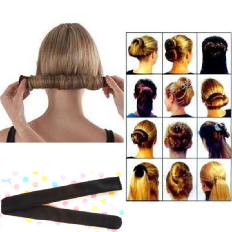 1pc Women Girls Wooden Comb Shape Hair Styling Tools Black Brown Fluffy Hair Braided Modelling Hairpin