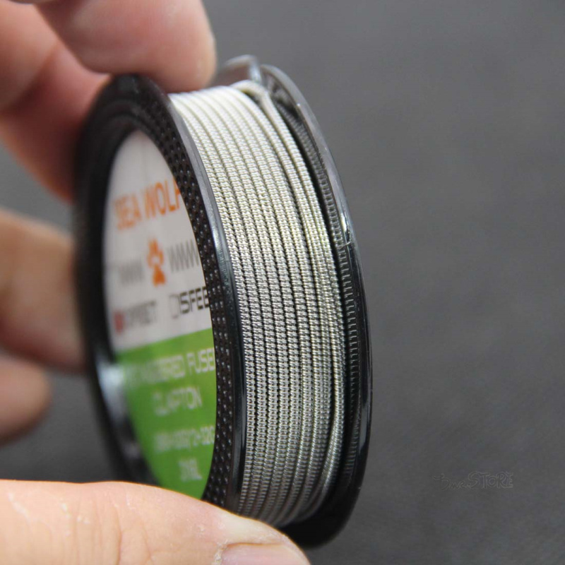 SEA WOLF 10feet SS316L (26GA+32GA)x2+32GA SS Staggered Fused Clapton Wire DIY Wire For RBA RDA RDTA Coil