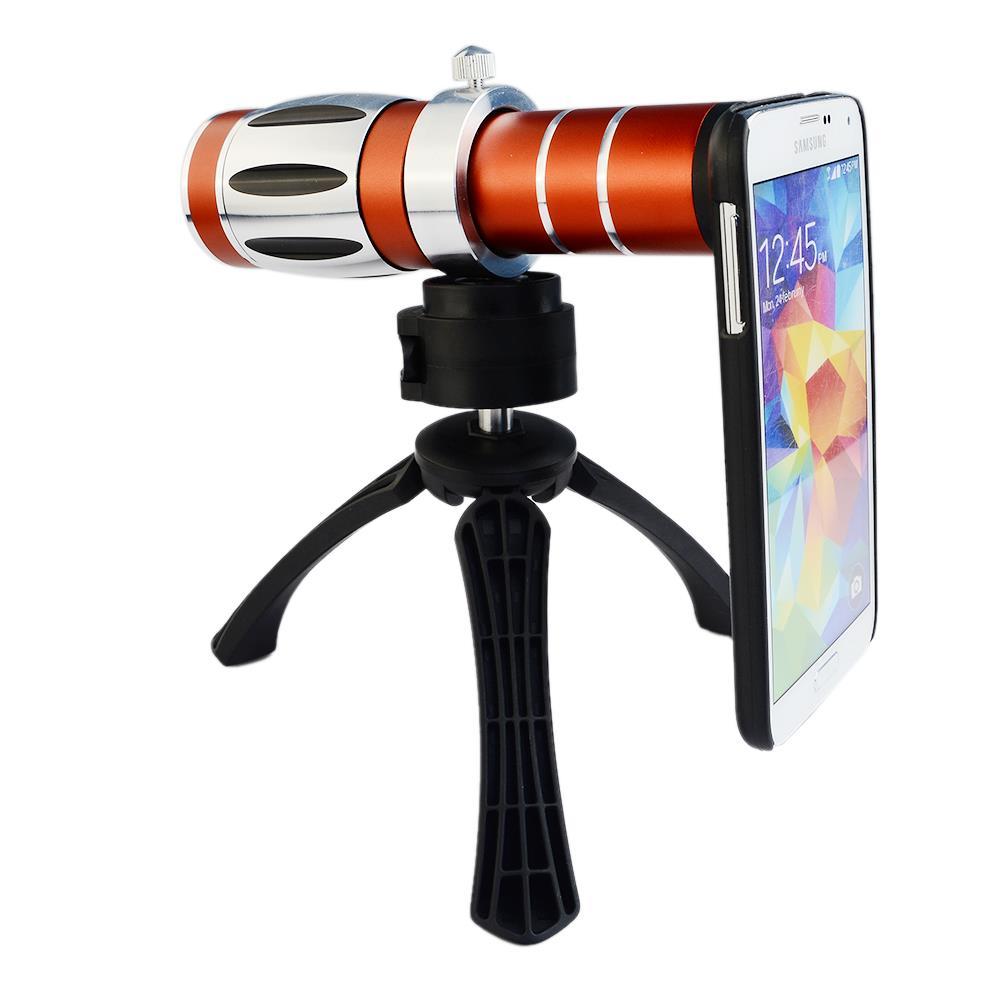 Handy universal 20x camera zoom optische teleskop aluminium teleobjektiv kit + stativ für iphone5 6 samsung htc blackberry