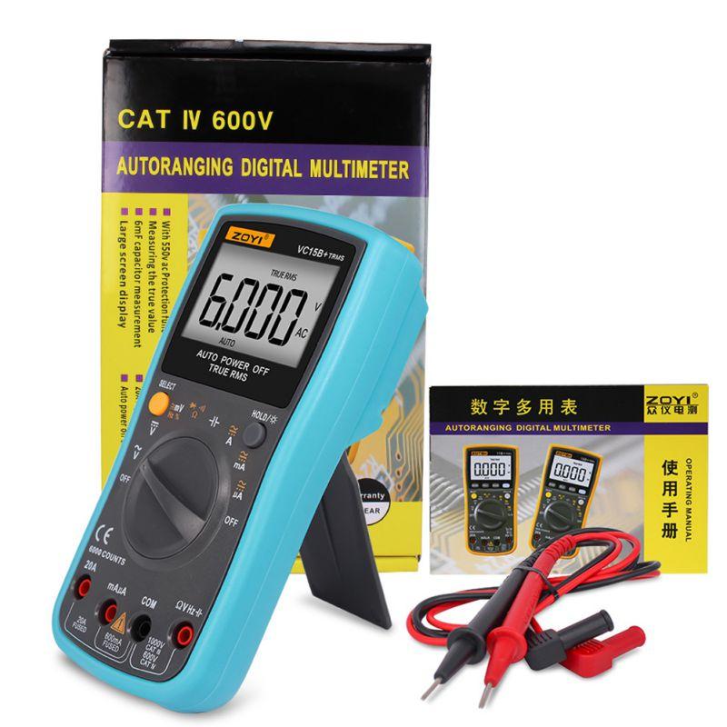 RM101 Digital Multimeter 6000 counts Backlight ACDC Ammeter Voltmeter Ohm Portable Meter New