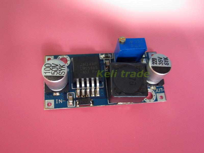 DC-DC Buck Converter Step Down Module LM2596 LM2596S DC-DC 1.5V-35V dc dc buck boost module for solar battery board red lm2577s lm2596s