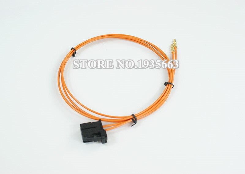 MOST Optic Fiber Cable Male Connector & Copper Part for Audi Porsche BMW 100cm