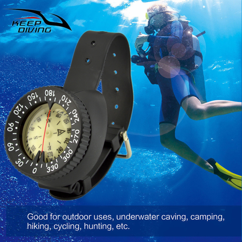Underwater Scuba Dive Wrist Mount Compass Gauge Navigation Deep Sea Exploring Pointing Guide Northern Hemisphere-in Pool & Accessories from Sports & Entertainment    1