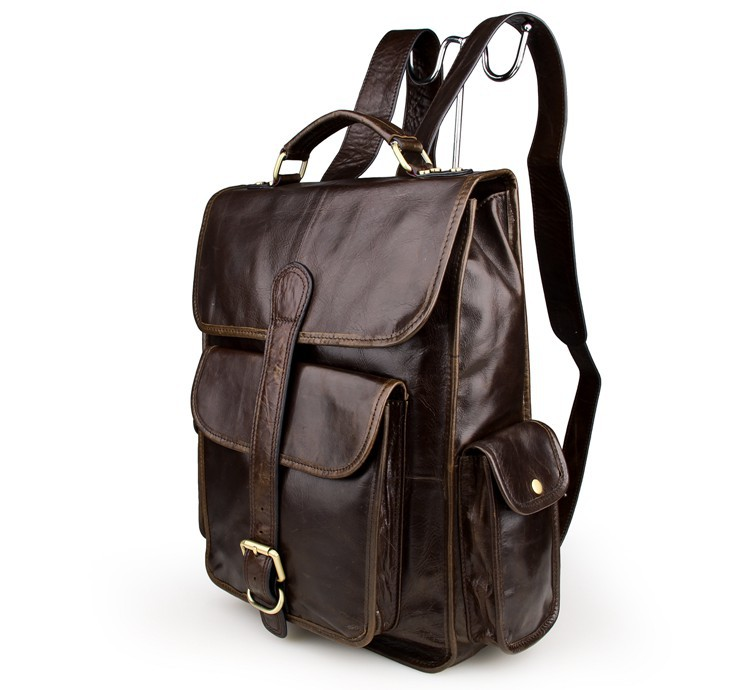 New Arrival men Genuine Leather Backpacks Vintage Style Travel Bags Fashion men School Bags Backpacks Casual