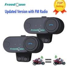 Обновленная версия! 2 шт. T-COMVB BT Bluetooth мотоциклетный шлем домофон гарнитура с fm-радио