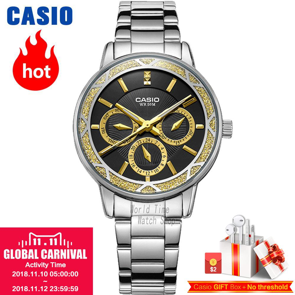 Casio watch Fashion simple pointer waterproof quartz ladies watch LTP-2087D-1A цена и фото
