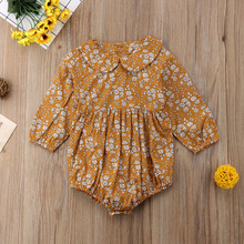 Baby Girls Floral Rompers Long Sleeve Jumpsuit