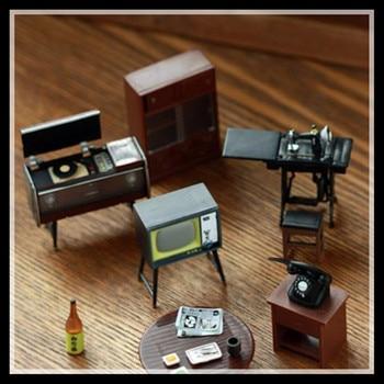 6 Pieces/Set High Quality Retro Furniture Fridge Magnets Resin Refrigerator Magnet Stick Home Decoration TV Table Phonograph