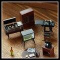6 Unids/set Alta Calidad Retro Muebles Imanes de Nevera Resina Imán para Frigorífico Decoración Del Hogar Stick TV Mesa de Fonógrafo