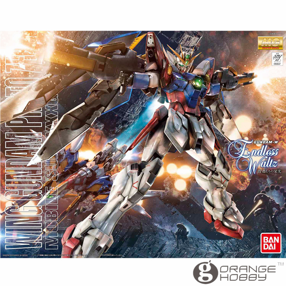 OHS Bandai MG 174 1/100 XXXG-00W0 Wing Gundam Proto Zero Mobile Suit Assembly Model Kits oh ohs bandai sw 1 6 yoda assembly model kits