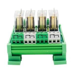Image 2 - 4 채널 1 SPDT DIN 레일 장착 220VAC 인터페이스 릴레이 모듈