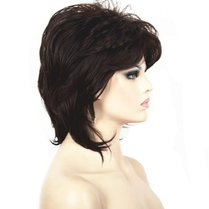 Image 4 - StrongBeauty Women Synthetic wig Short Hair Black/Blonde Natural wigs Capless Layered Hairstyles