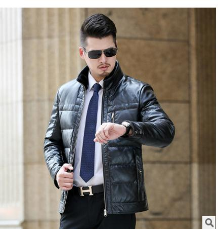 b1dbec6ebd3 M 4Xl Mens Pu Leather Winter Thick Leather Jackets Large Size Male  Black Brown Casual Leather Coats Overcoats Leather Clothes E2-in Faux Leather  Coats from ...