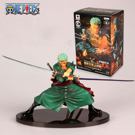 Cool Decisive Battle Version One Piece Roronoa Zoro PVC Figure Toy Action Collection Model Toy Brinquedos new hot 17cm one piece 15th roronoa zoro action figure toys doll collection christmas toy with box