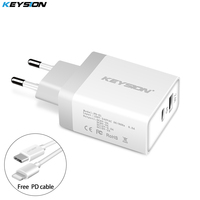 KEYSION 30W USB PD Charger Fast Charger Type C Power 2 Ports Travel Wall Quick Chargers