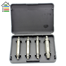 New 4pcs/set Double Ended Damaged Screw Extractor Broken Breakage Head Wood Bolts Remover Extract Drill Bit With Case