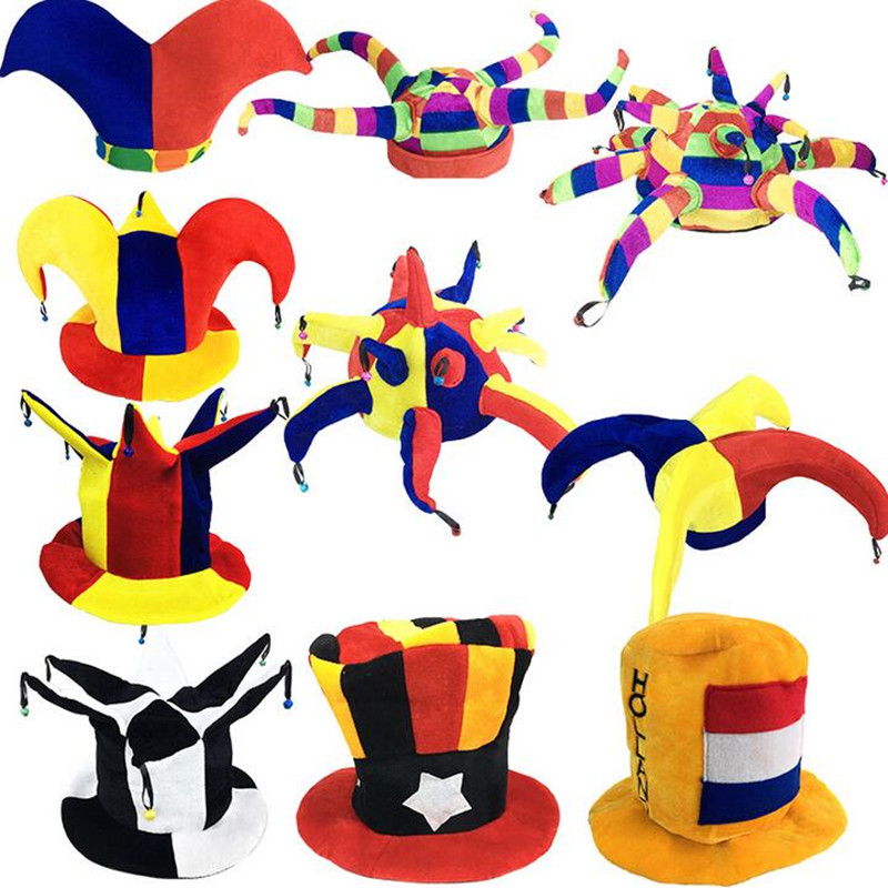 Kids Adults Carnival Party <font><b>Hats</b></font> Clown <font><b>Beer</b></font> <font><b>Hats</b></font> Caps Performance Props Halloween Party Costume Accessories image