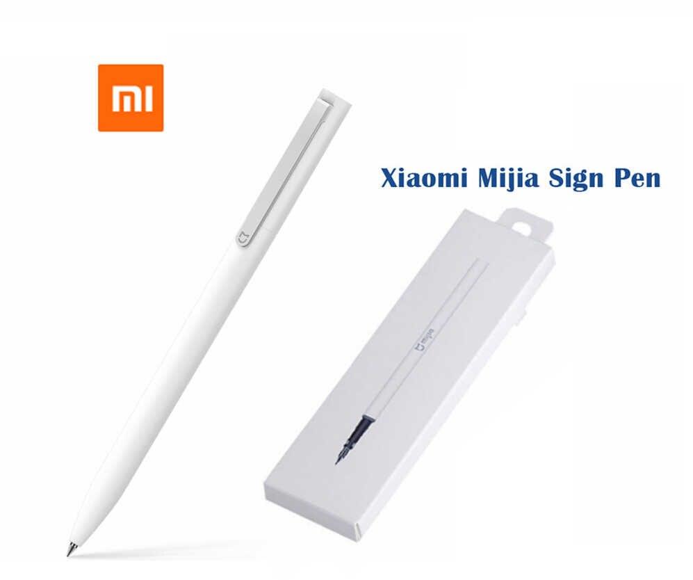 Xiao mi mi jia znak Pen z pudełkiem mi długopis 9.5mm podpisanie Pen PREMEC gładka szwajcaria napełniania mi Kuni japonia tusz ciemnoniebieski tusz wkłady