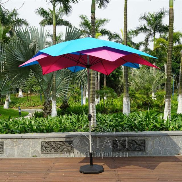 3 Meter 10 Ribs Lotos Patio Umbrella Garden Parasol Outdoor Furniture Covers  Sunshade For Christmas Decor