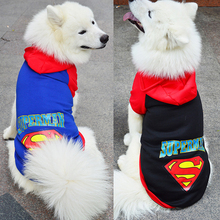 Large Pet Dog Clothes Superman Big Dog Coat Jacket With Hooded Sport Golden Retriever Clothing Winter Pet Outwears 2XL-9XL DC51