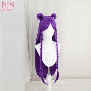 Image 2 - 【Anihut】LOL Game Cosplay Wig KDA POP/STAR Kaisa  Cosplay Wigs Women Long Straight Purple Wig LOL KDA Kaisa KPOP SKIN Hair