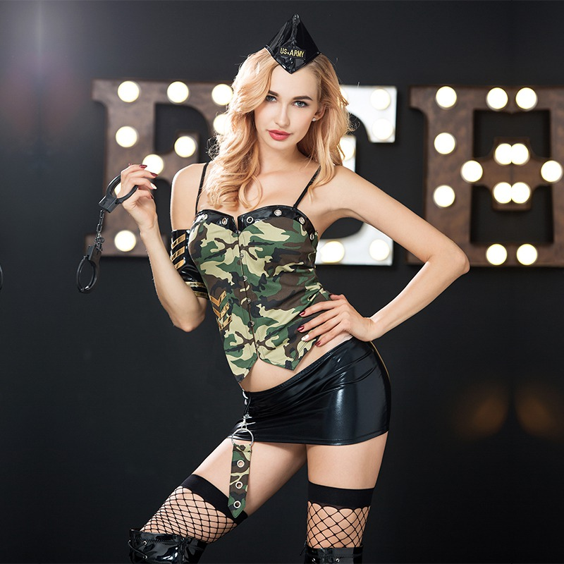 Modishshe sexy bodycon camouflage dress