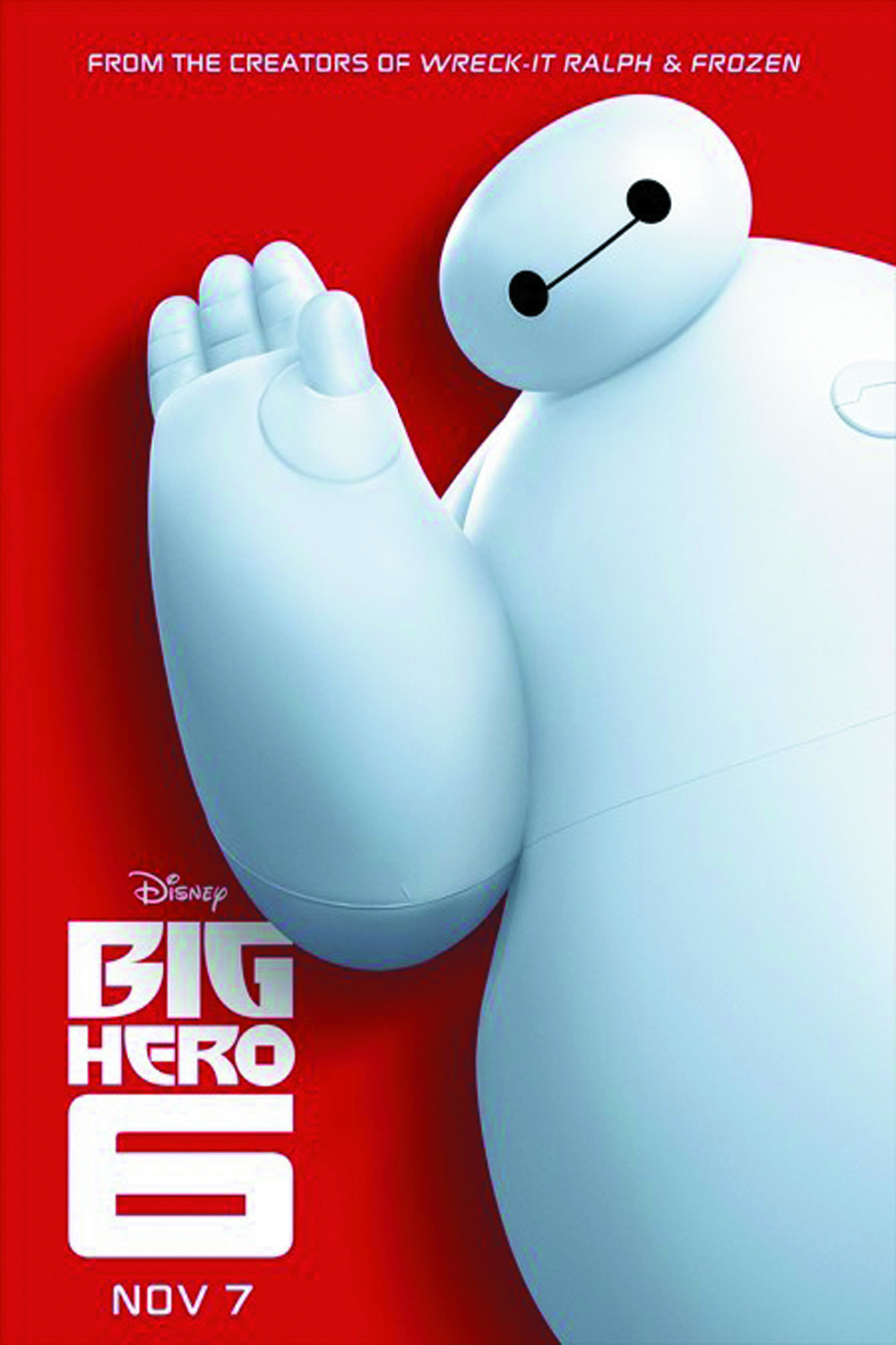 "24""X36 inch' Big Hero 6' Dis Baymax MOVIE Poster Custom ...