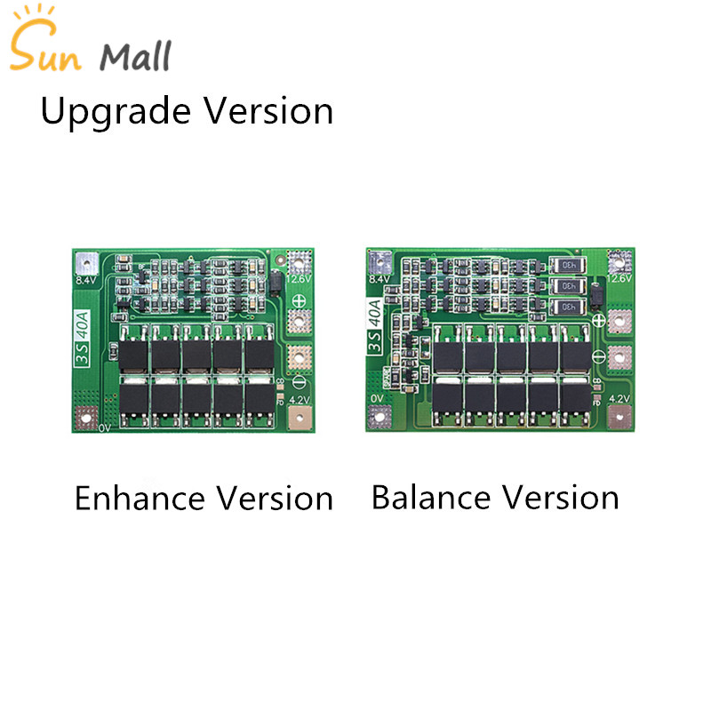 Power Source 1pcs 3s 40a 11.1v 12.6v 18650 Lithium Battery Protection Board For Screwdriver Drill 40a Current With Balance