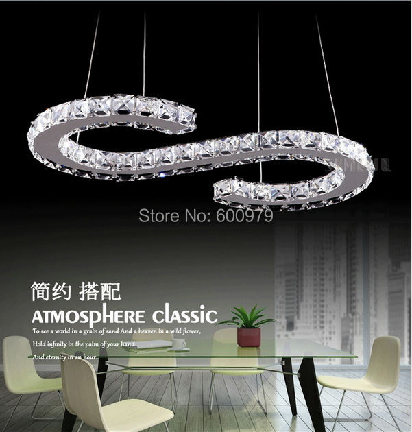 Hot Ing Modern Led Crystal Chandelier Dining Room Pendant Lamp Contemporary Lighting Fixture
