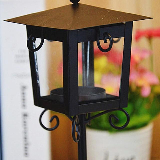 European Classic Stand Lantern Retro Style Candle Holder Wedding Lantern Party Decoration Romantic Feelings White & Black colors 6