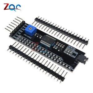 MCP23017 5V расширитель 1602 2004 12864 ЖК-драйвер модуль для Arduino I2C IIC последовательный интерфейс адаптер плата контрастная регулировка