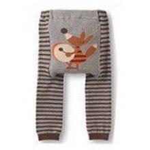 Осенние детские леггинсы в полоску с милым рисунком для маленьких мальчиков и девочек, длинные штаны