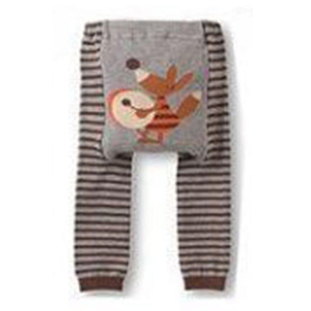 Autumn Baby Kid Infant Toddler Newborn Cute Cartoon Striped Child Boy Girl Leggings Long PP Pants rabbit embroidery striped leggings